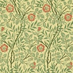 Sweet Briar by William Morris. The Original Morris & Co - Arts and crafts, fabrics and wallpaper designs by William Morris & Company William Morris Wallpaper, Morris Wallpapers, William Morris Tapet, Wallpaper Online, Of Wallpaper, Designer Wallpaper, Wallpaper Designs, Textures Patterns, Print Patterns
