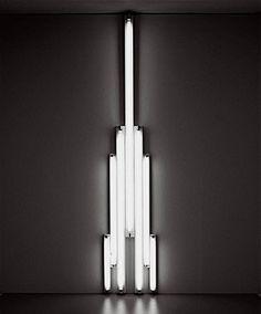 Dan Flavin: 'Monument' for V. Tatlin 1966 Cool white fluorescent light