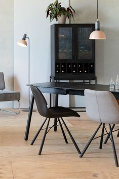 Stylus, Black Leather Dining Chairs, Air Chair, Take A Seat, Grey Leather, Decoration, Brown And Grey, Upholstery, Dining Table