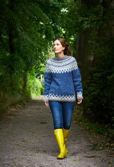 Icelandic Sweaters, Drops Design, Projects To Try, Skinny Jeans, Wool, Knitting, Pretty, Pants, Clothes