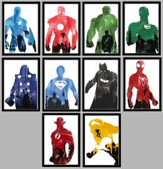 Ultimate Superhero Poster Collection on the redditgifts Marketplace #redditgifts
