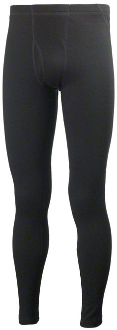 Helly Hansen Mens Warm Baselayer Pants: Black