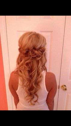 Prom hair? With lil rhinestones!!