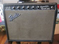 1965 PRINCETON REVERB AMP VINTAGE BLACKFACE FENDER ** STILL SOUNDS & LOOKS GREAT