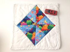Mini Quilt, Trivet, Pot Holder, Play Mat, Candle Mat, Frogs and Mermaids, Mug Rug, Whimsical mat, Table protector