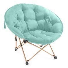 Simple By Design Memory Foam Tufted Dish Denim Chair