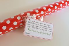 The perfect Christmas gift!  Who doesn't need wrapping paper this time of year?  Add this cute printable tag to a roll of wrap and it makes a very thoughtful present!