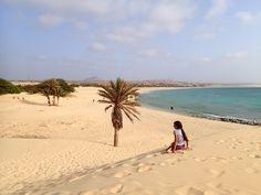 Blick von einer Sanddüne in Richtung Royal #Decameron und dahinter #Iberostar, neben der Palme befindet sich jetzt das Perola De Chave #Boavista #CapeVerde.