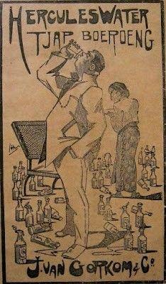 Minuman yang terkenal dengan sebutan Aer Blanda - Tjap Boeroeng_1923