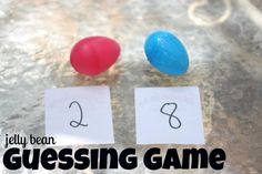 Jelly Bean Guessing Game ::  A great way to use up your Easter eggs and jelly beans from yesterday!