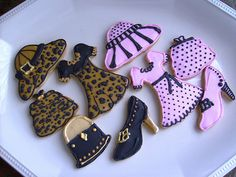 Girly Girls - Dress Cookies - Purse - Shoe - Hat - Decorated cookies by Lori's Place Gourmet Delights, via Flickr