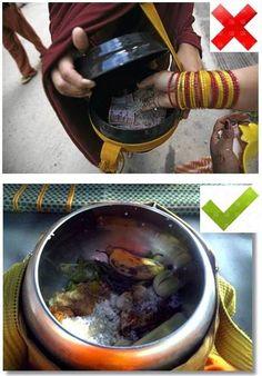 结缘之窗: The Alms-bowl of a Theravada monk - The monk's alms-bowl is only used to receive cooked food offered by willing donors. The monk strictly does not accept money with his bowl or on his alms-round. The Theravada monk - See more at http://aristeinhk.blogspot.sg/2015/06/the-alms-bowl-of-theravada-monk.html