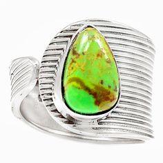 Rare Australian Gaspeite 925 Sterling Silver Ring Jewelry s.8 SR204069 | eBay