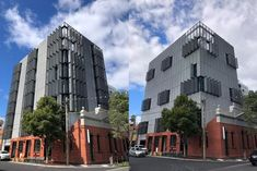 Locker Expanded Metal Screens programmed to gradually open or shut to follow the sun and aid in reduction of energy consumption. Cremorne Street took out the named award for commercial architecture at the AIA Victorian Architecture Awards. #facade #atmosphere #energyrating #lockergroup #metalfacade Metal Facade, Metal Screen, Architecture Awards, Commercial Architecture, Expanded Metal, Victorian Architecture, Energy Consumption, Screens