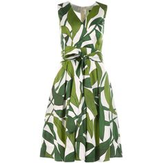 Printed wrap dress | marc-cain.com/en ❤ liked on Polyvore featuring dresses, marc, green color dress, green dress, marcs dresses and green wrap dress