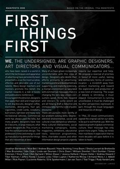 First thing first Manifesto 2000