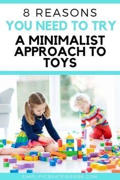 Want to save time picking up toys every day? Take the minimalist toys approach and reduce clutter in your home. Find out why this is a great approach to take with your kids and how you can easily have a minimalist kids room Minimalist Kids, Minimalist Lifestyle, Minimalist Living, Toy Storage Solutions, Toy Organization, Organizing Ideas, Creative Decor, Creative Storage, Kids Room Design