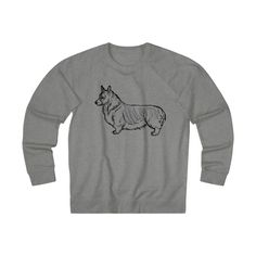 Corgi Silhouette Heart Women/'s Pullover Crewneck Sweatshirt Casual Fashion /& Athletic Wear Dog Inspired Design for Humans
