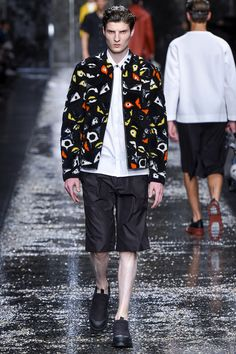 On the catwalk at Fendi Spring-Summer 2016 Men Fashion Show #PFW #RTW #SS16 #Fendi #LVMH