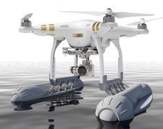 DJI Phantom Drone with Water Landing Attachments