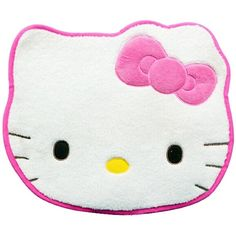 Hello Kitty Floor Coverings Cushion Pad Bedroom Carpet Pad (White) ($8.86) ❤ liked on Polyvore featuring home, home decor, throw pillows, white accent pillows, white home accessories, hello kitty, hello kitty home accessories and white throw pillows
