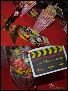 Movie Night Slumber Party~ for boy or girl, favors idea.  My kids will definitely have movie themed birthday parties