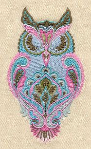 Full Moon Owl - Thread List | Urban Threads: Unique and Awesome Embroidery Designs