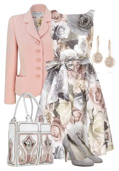 """Grey & Pink"" by yasminasdream ❤ liked on Polyvore featuring Ileana Makri, Christian Dior, BUBA and Philosophy di Alberta Ferretti"