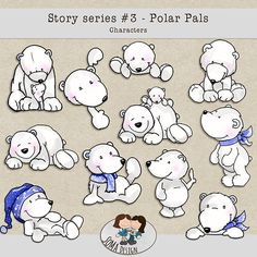 Story Series - Polar Pals Characters The Polar Pals is the third part of our Story series. Digital Scrapbooking, Hello Kitty, Challenges, Snoopy, Creative, Fun, Events, Animals, Fictional Characters