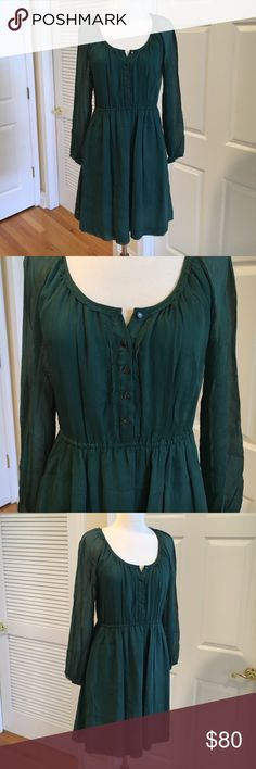J. Crew 100% silk dress 🐠Excellent condition. Lined J. Crew Dresses Midi