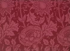 William Morris and Company. Wallpaper Sample Book, pink and rose