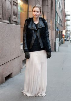 genius: put your shearling vest over your leather jacket