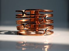 Vntage Renoir Signed Copper Clamper Bracelet, 1950s 1960s $125.00  Love the color!!! <3