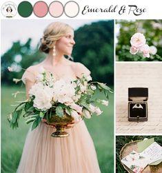 Emerald & Rose Pink Wedding Mood Board