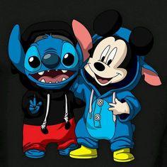 Disney Drawing Stitch [as Mickey Mouse] Disney Phone Wallpaper, Cartoon Wallpaper Iphone, Cute Cartoon Wallpapers, Cute Disney Drawings, Kawaii Drawings, Cute Drawings, Stitch Drawing, Cute Stitch, Disney Art