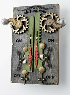 Steampunk Switches - The Green Tree Jewelry Light Switch Plates Complicate a Simple Action (GALLERY)