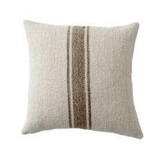 Pillow Inserts, Pillow Covers, Beige Sectional, Grain Sack, Residential Interior Design, Faux Plants, Medium Brown, Decorative Pillows, Dark Brown