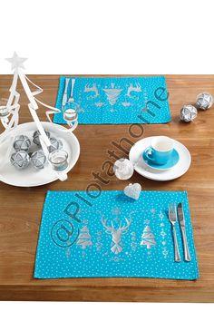 Kerst in blauw en zi
