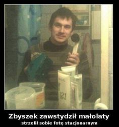 Oj ten Zbyszek to szaleniec :DD Very Funny Memes, Wtf Funny, Hilarious, Polish Memes, Weekend Humor, Nyan Cat, Quality Memes, Dad Jokes, Pranks
