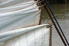 Nieuw in mijn Werk aan de Muur shop: Voorzeil oude zeilschip