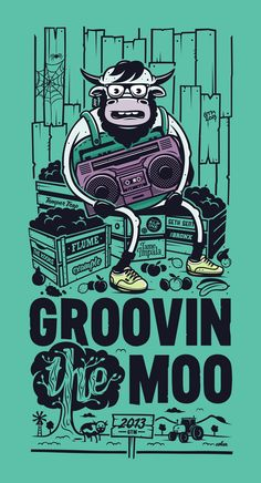 Groovin The Moo T-Shirt Comp Submission on Behance