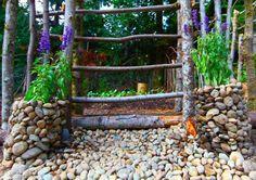 Planters with Plants, Photo © Finn Clark Rock Planters, Garden Planters, Porch Garden, Garden Fencing, Fence, Farmhouse Landscaping, Backyard Landscaping, Backyard Ideas, Back Gardens