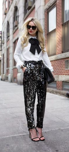 Christmas New Year's eve outfits sequined