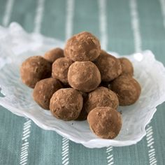 Rich chocolate truffles infused with blueberry tea