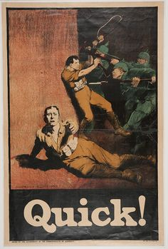 Signed by Norman Lindsey. Issued by the Government of the Commonwealth of Australia. World War I recruitment and war effort poster