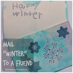 """Kitchen Floor Crafts: Mail """"Winter"""" to A Friend"""
