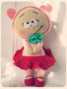 Shop for amigurumi on Etsy, the place to express your creativity through the buying and selling of handmade and vintage goods. Diy Crochet Toys, Crochet Animal Amigurumi, Amigurumi Doll, Crochet Animals, Crochet Dolls, Crochet Baby, Crochet Projects, Knit Crochet, Easy Crochet Patterns