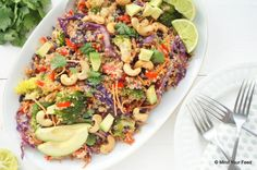 Thaise quinoa salade met broccoli - Mind Your Feed