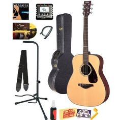 Yamaha FG700S Acoustic Guitar BUNDLE including Hard Case, Strap, Stand, Polish, Tuner, Strings, Picks, Capo, Stringwinder and DVD --- http://www.amazon.com/Yamaha-Acoustic-including-Strings-Stringwinder/dp/B0046IQ43O/?tag=ams06-20
