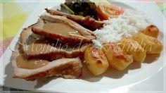 Moinho De Farinha: Pá de porco assada com batatas novas